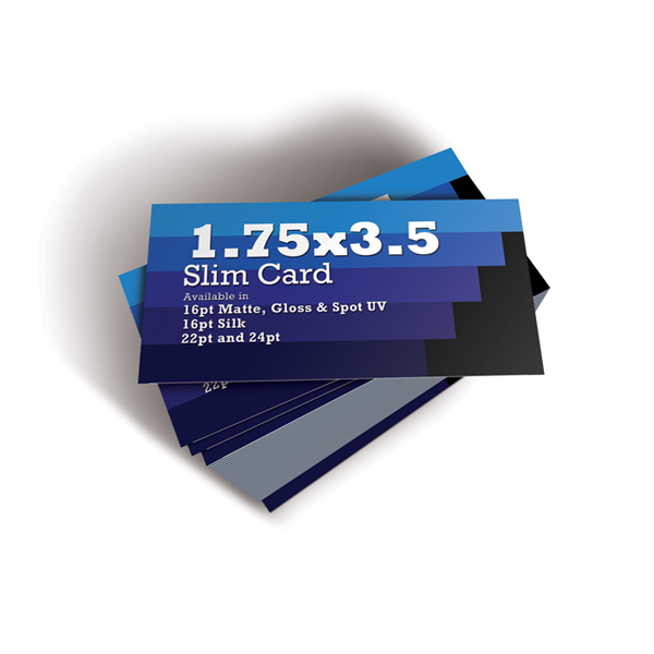 100 1.75x3.5 Slim Business Cards