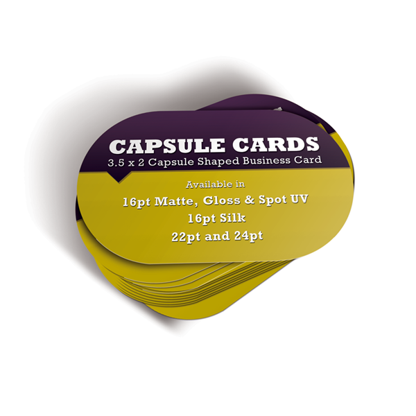 500 - 16pt 3.5x2 Capsule Business Cards