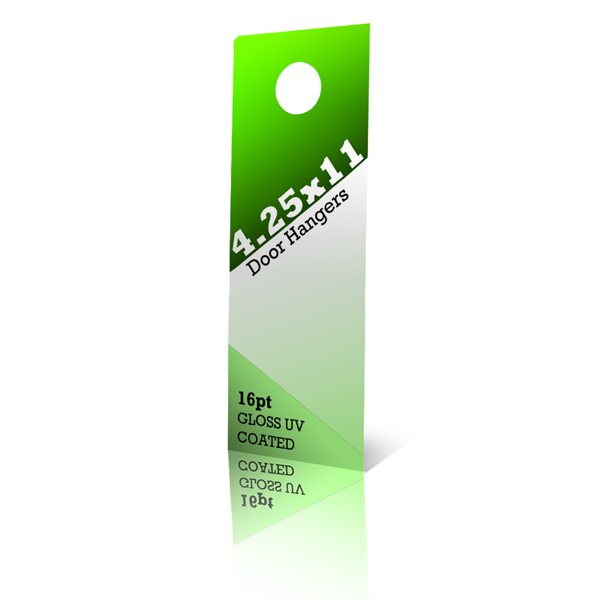 5000 4.25x11 Door Hangers on 14pt Card Stock