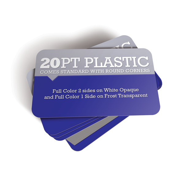 2500 - Plastic Business Cards - 20pt Thickness